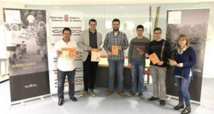 De izda. a dcha. Primitivo Sánchez, Rubén Goñi, Jon Gondan, Daniel Martínez, Haitz San Miguel y Piluka Guillén.