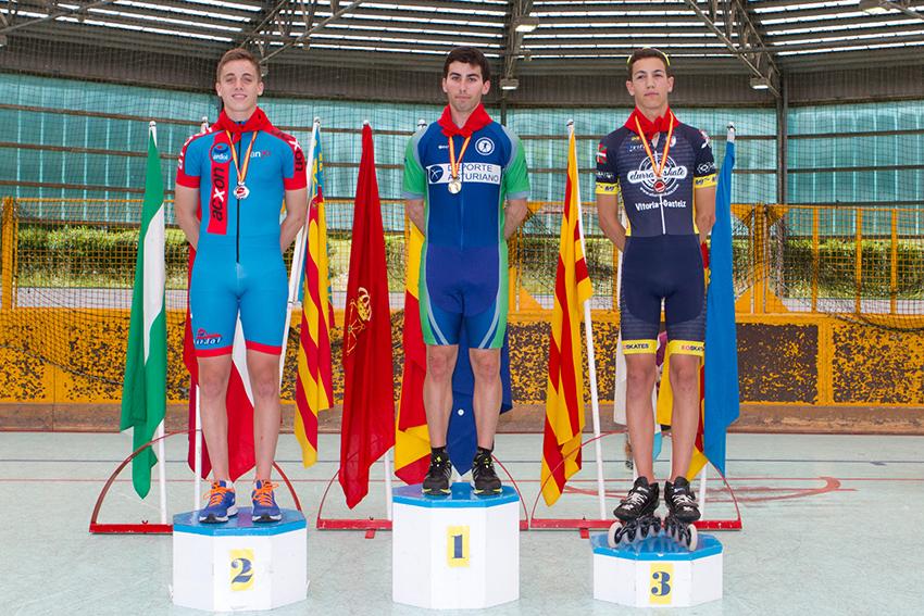 fotos del Pódium , del pasado Campeonato de España IRENE OQUIÑENA ITURRIA Campeona de España Medalla de Oro 3000 mt puntos