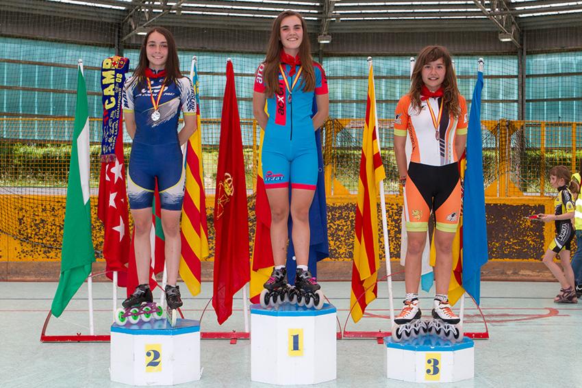 fotos del Pódium , del pasado Campeonato de España MIKEL FABER ARBELOA, subcampeón de España, Medalla de plata en 5000 mt puntos